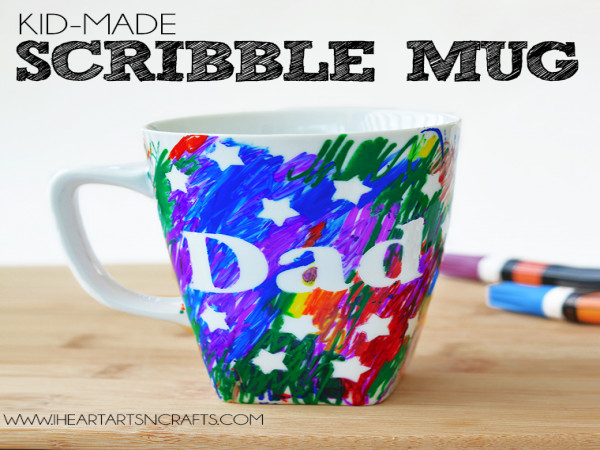 Scibble mug for your dad with every booking
